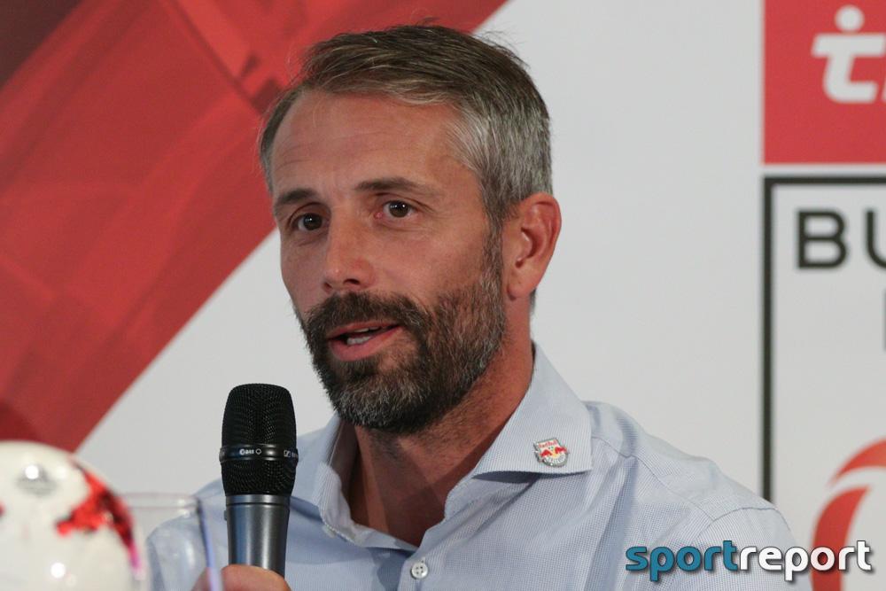 """Marco Rose (Trainer Red Bull Salzburg): """"Es war ein hartes, zähes und schweres Spiel und wir sind froh, dass wir gewonnen haben."""""""