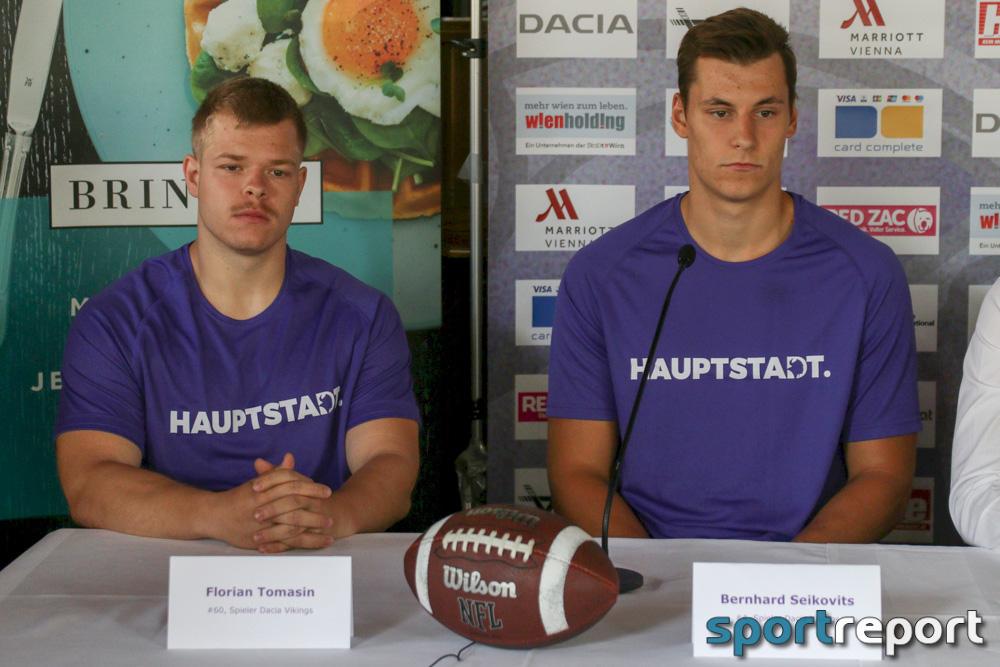 Pressekonferenz, Dacia Vikings Vienna, Wörthersee Stadion - Klagenfurt, Austrian Bowl XXXIII