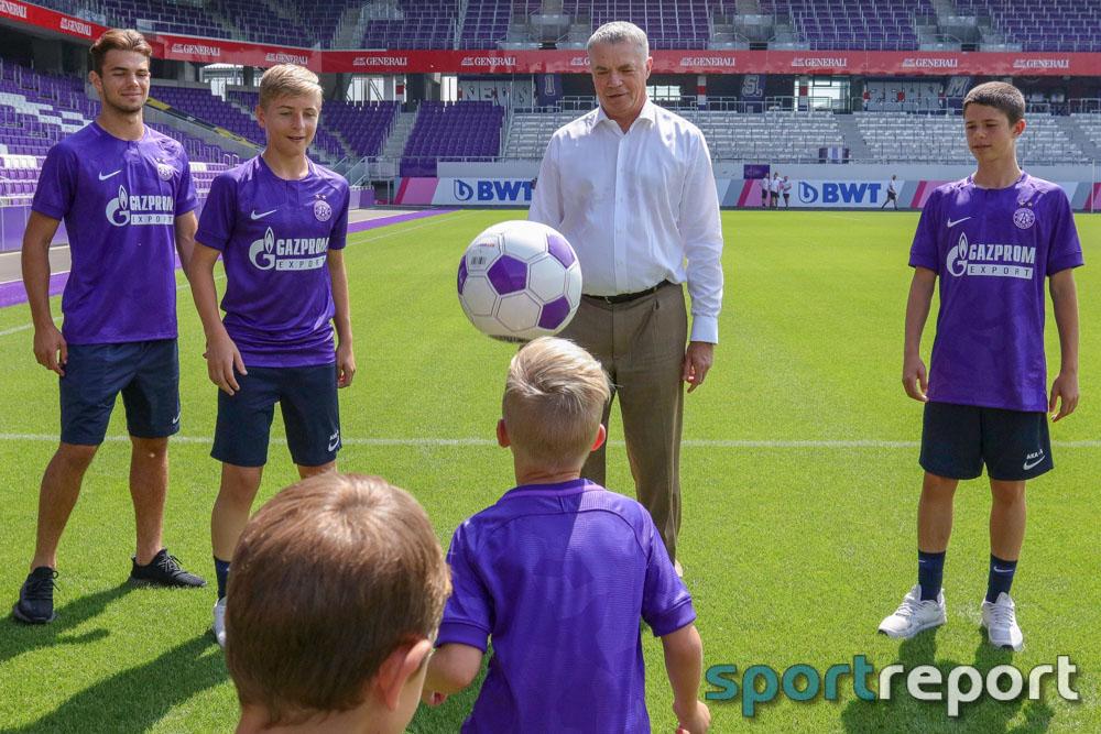 FK Austria Wien, Vorstellung neuer Nachwuchssponsor Gazprom, aus der Generali Arena, Tipico Bundesliga
