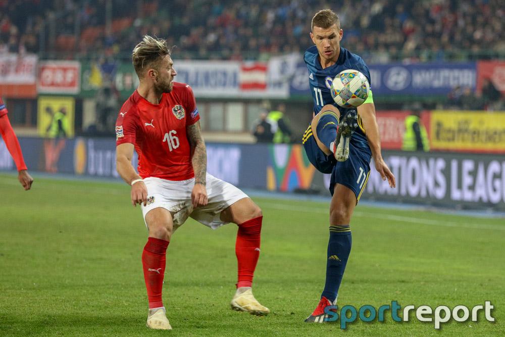 Österreich, Bosnien und Herzegowina, aus dem Ernst Happel Stadion, Nations League