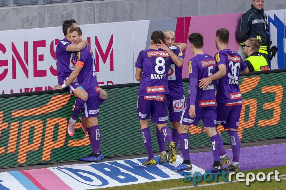 Austria Wien holt in Unterzahl wichtige drei Punkte gegen TSV Hartberg