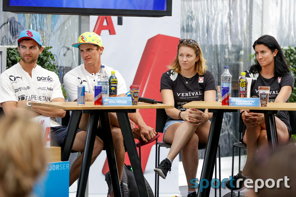 Pressekonferenz, A1 Major Beachvolleyball, Donauinsel, A1 Major